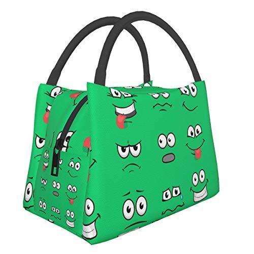 Best Cartoon Eyes Men Women Boy Girls Portable Insulation Bag Chest Canvas Chest Cotton Bento Cooler Picnic Bag