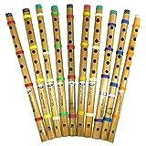 Flautas pack 10 bambú India flauta dulce instrumento de música de viento