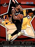 2020-21 NBA Hoops Lights Camera Action #17 Damian Lillard Portland Trail Blazers Official Panini Basketball Trading Card