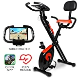 Miweba Sports Indoor Xycling X-Bike MX-100 Ergometer Heimtrainer - 3 Kg Schwungmasse - Pulsmessung - App Anbindung - Klappbar -