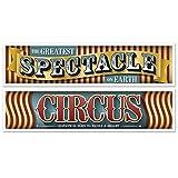 Generique - 2er Set Banderolen Vintage Zirkus 150 cm
