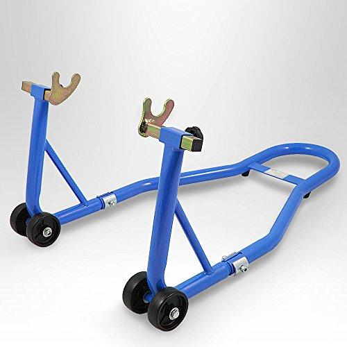 BITUXX Motorradständer hinten Motorrad Montageständer Hinterrad Transportständer Blau für viele gängige Motorräder