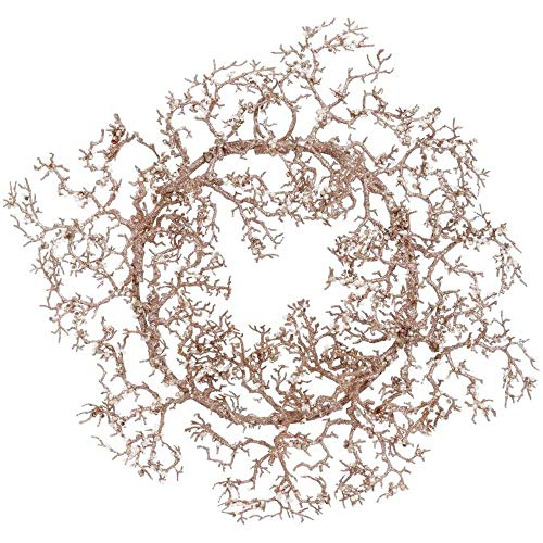 Mark Roberts 2020 Collection Glittering Coral Wreath 9-Inches