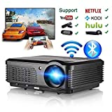 Wireless Projector WiFi Bluetooth 3600 Lumens (2019 Newest), HD LED Projector 1080p Support