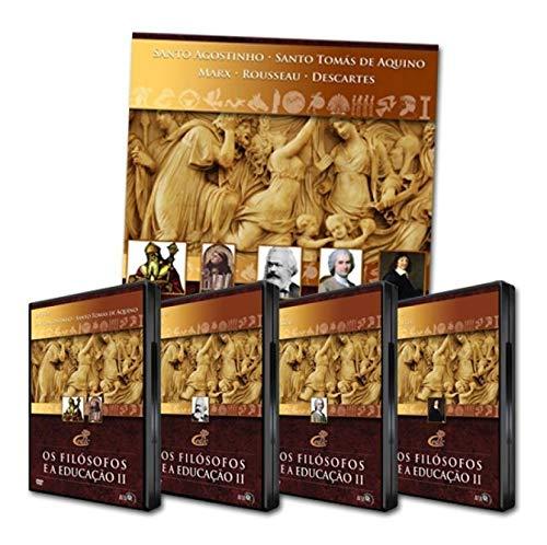 Coleção Os Filósofos e a Educação II 4 DVDs + 1 Livro