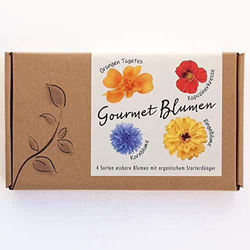 GOURMET BLUMEN Blumensamen-Geschenkbox - 4 Sorten essbare Blüten