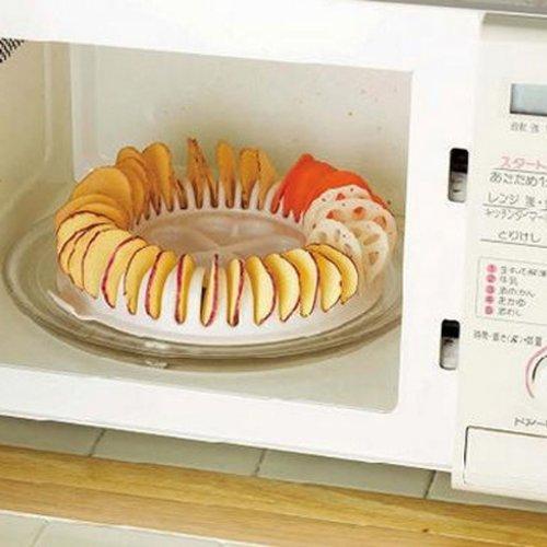 Demiawaking DIY Calorie Basse Senza Grassi Attrezzo per Patatine Fritte per Forno a Microonde da Casa