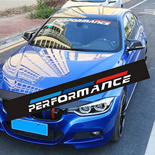 WYYYFA Etiqueta del Parabrisas del Coche para BMW M E46 E60 E39 E70 E83 E85 E87 E90 F10 F20 F30 1 2 3 5 7 X Serier, Pegatina de Parasol del Coche Pegatinas de Parabrisas del Coche