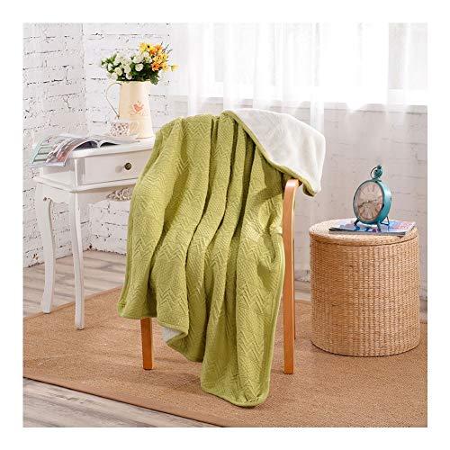 CRXL shop-elektrische dekens 100% katoen Gebreide deken Gezellige deken Unisex Warm zacht Gebreide deken veranderen deken op stoel bank en bed voor beddengoed en slapen 130x160cm