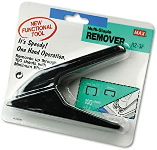 Max : Heavy-Duty Staple Remover, Black -:- Sold as 2 Packs of - 1 - / - Total of 2 Each