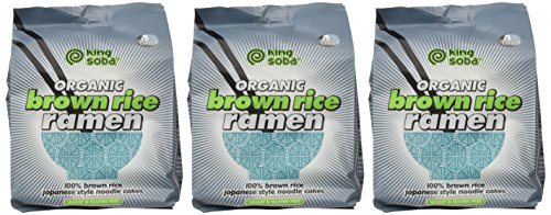 King Soba 3-PACK Gluten Free & Organic Brown Rice Ramen Noodles - 4 noodle cakes in each package