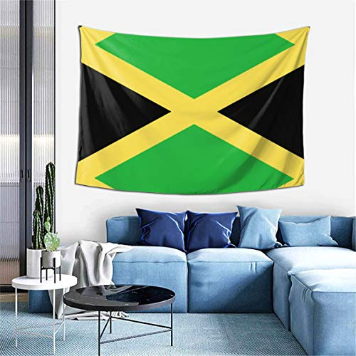 Jamaica Flag Art Design Tapestry Art Decoration Bedroom Living Room and Dormitory Decoration Seamless Nail Hooks are Easy to Install 60 X 40 Inch