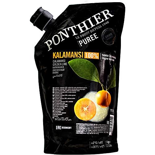 Food-United KALAMANSI PÜREE Zitrus-Frucht-Püree von Ponthier 1KG für Calamansi-Smoothie-Mousse-Sorbet-Tee-Jogurt-Saft-Müsli mit ausgewählten Früchten höchster Qualität