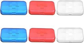 HJTLK 6PCS Pill Box. 6 Day Medicine Organizer 6 Day Pill Container Vitamin Organizer for Vitamin Fish Oils Supplement (Rojo + Azul + Blanco)