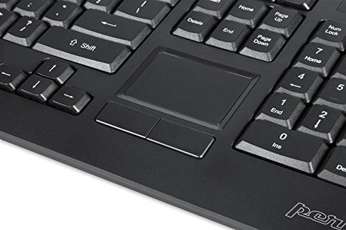 Perixx PERIBOARD-513 Tastatur mit Touchpad USB (US-Englisch) schwarz