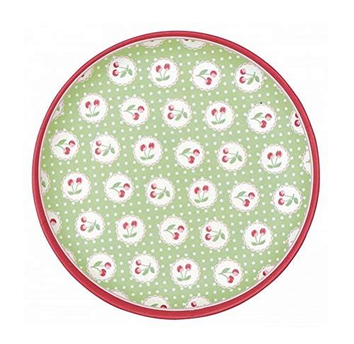 GreenGate - Teller - Kuchenteller - Frühstücksteller - Cherry/Kirschen - Bambus - Ø 20 cm