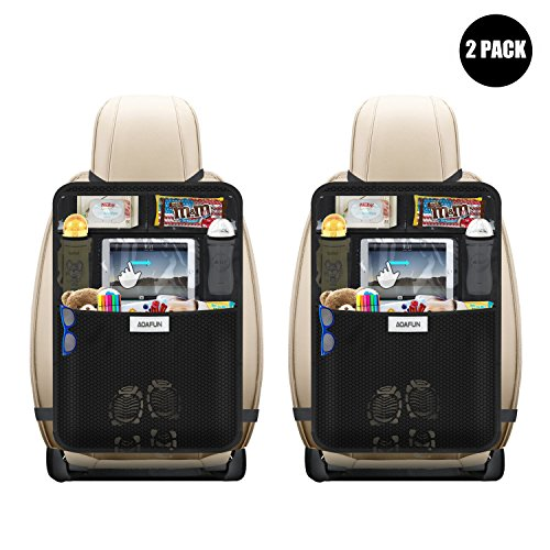 Aoafun 2 Pack Kick Mats Car Seat Back Protectors, with 10.1