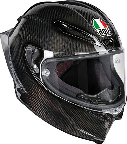 AGV Casco Moto Pista Gp R E2205 Solid PLK, Glossy Carbon, XL