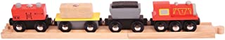 Bigjigs Rail Freight Train - Other Major Wooden Rail Brands are Compatible