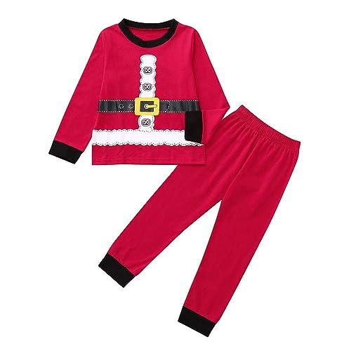 2018 Clearance Kids Christmas Party Outfits Set Pajama be406e949