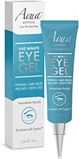 Best Puffy Eye GEL Instant results – Naturally rapid reduction eye gel, Eliminate Wrinkles, Puffiness and Bags – Hydrating Eye Gel w/Green Tea Extract by Aqua Mineral – 1 oz Review