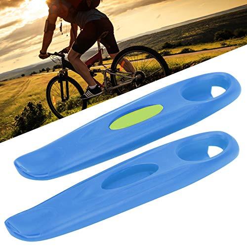 Rosvola Palanca de llanta de Bicicleta, Herramienta de reparación de Llantas de Bicicleta, súper Liviana, de Alta dureza, diseño Simple para entusiastas del Bricolaje(Blue)