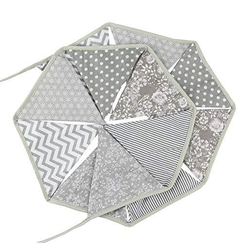 Banderines triangulares de 12 lados de 3,2 m para decoración de fiesta de cumpleaños de bebé