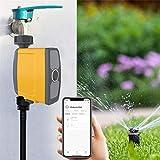 Timer Irrigazione Automatico WiFi, Programmatore di Irrigazione Smart, Giardino Timer Automatico per Piante Verdi da Giardino in Vaso