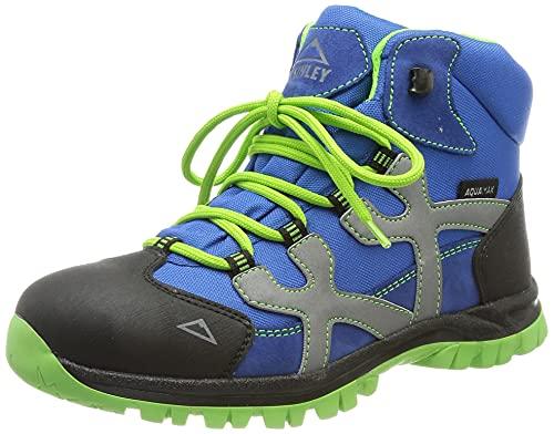 McKINLEY Unisex Santiago Pro Aquamax dziecięce buty trekkingowe, zielony - Zielony limonkowy Blue Dark 906-31 EU
