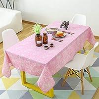 JJD パーソナリティソリッドコットンとリネンのテーブルクロス、スタディテーブルクロス、長方形のカバークロス、パーティー用コーヒーテーブルスタディ (Color : D, サイズ : 140x200cm(55x79inch))