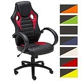 CLP Silla Racing Speed en Cuero Sintético I Silla Gaming Regulable en Altura I Silla de Oficina con Ruedas I Color: Rojo