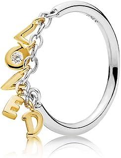 PANDORA Loved Script Ring 18k 镀金 PANDORA Shine 系列,尺寸:EUR-52,US-6-167799CZ-52