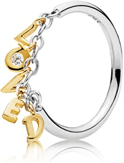 Loved Script Ring 18k Gold Plated PANDORA Shine Collection - 167799CZ