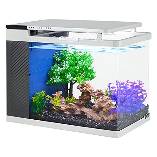 Aquarium Aquarium Seitenfilter Ökologisches Aquarium HD Glas Heißes Biegen Kreatives Aquarium Mini Kleines Wohnzimmer Aquarium
