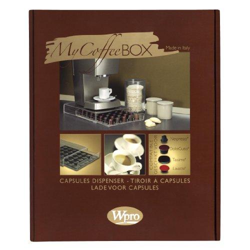 Wpro MyCoffeeBox - Dispensador de cápsulas para cafeteras monodosis
