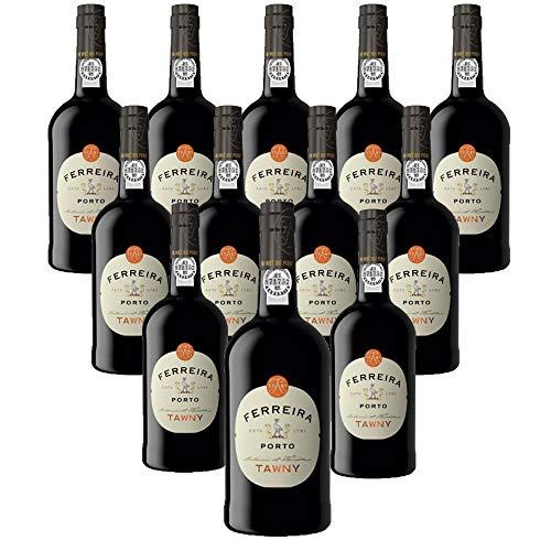 Vino de Oporto Ferreira Tawny - Vino Fortificado- 12 Botellas