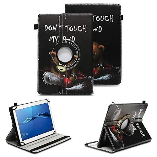 NAUC Robuste Tablet Schutzhülle für Huawei MediaPad T1 T2 T3 7.0 aus Kunstleder Hülle Tasche Standfunktion 360° Drehbar Cover Hülle Universal, Farben:Motiv 8