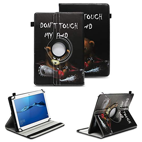 NAUC Tablet Tasche kompatibel für Huawei Mediapad X2 Hülle Schutzhülle Cover Schutz Hülle Drehbar, Farben:Motiv 2