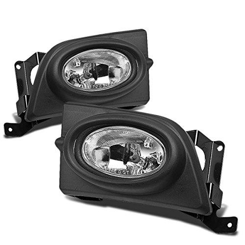 DNA Motoring FL-HC064-CH Pair Fog Light+Switch Chrome [For 06-08 Honda Civic 4Dr]