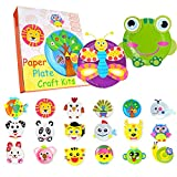 Paper Plate Art Kits, 20 Packs Recognize Animals Assembling Project Creative Crafts Toys for Boys and Girls Birthday Christmas Holiday Gifts