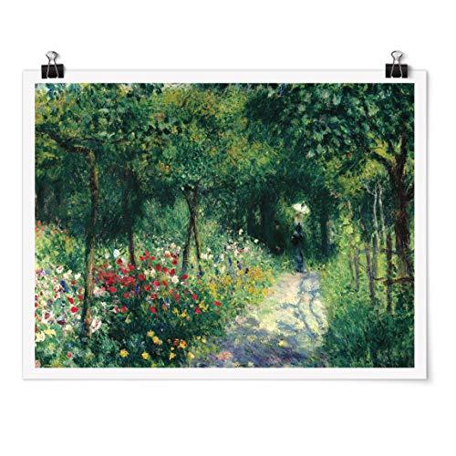 Bilderwelten Poster - Auguste Renoir - Frauen im Garten - Querformat 3:4 Glänzend 75 x 100cm