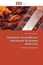 Résolution de problèmes thermiques de grande dimension de DEL BARRIO-E