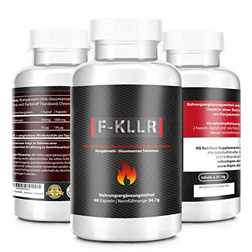 F-KLLR - FATBURNER DIÄTPILLEN - Beliebt bei figurbewussten Menschen - Jojo Effekt - Fitness Pillen - schlank - sehr gut verträgliche Tabletten - 60 Kapseln hergestellt in Deutschland