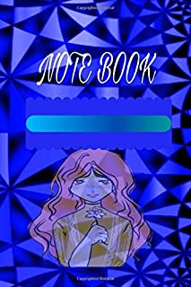 Note Book: notebook ,6 * 9 size and 120 White pages, Nice and attractive cover ,neon colors,With white striped interior pages