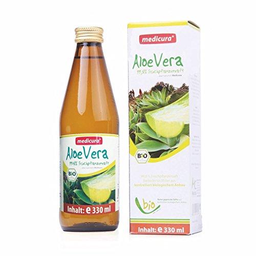 Bio Aloe Vera 99,8% Frischpflanzensaft - 330 ml Glasflasche