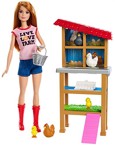Barbie Mattel Chicken Farmer Doll & Playset