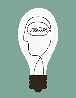 Eaiizer Poster Wall Art Print Colorful Brain Creative Idea Mind Smart People Lamp Abstract Light Bulb 16x24 Inches Artwork for Home Bedroom Decor
