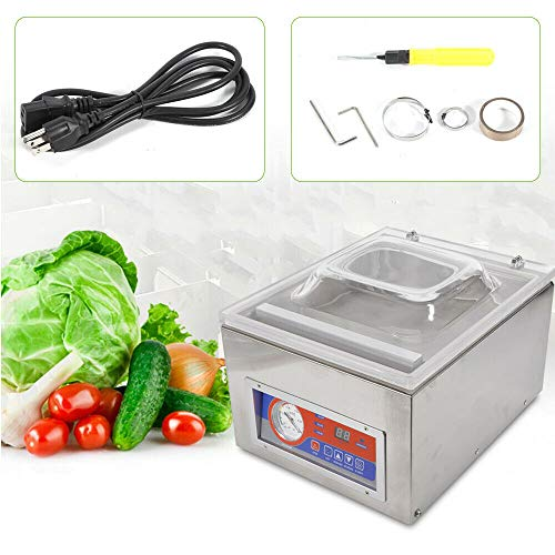 Commercial Automatic Vacuum Sealer Food Vacuum Sealing Packing Machine (41x31x29cm)