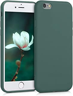 kwmobile TPU Silicone Case Compatible with Apple iPhone 6 / 6S - Soft Flexible Protective Phone Cover - Blue Green