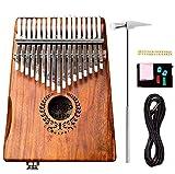 BCLGCF Kalimba Thumb Piano 17 Teclas, Piano Eléctrico para Pulgar, Mbira Portátil con Pastilla Acacia Koa Wood Finger Piano Regalos para Principiantes, Niños Y Adultos